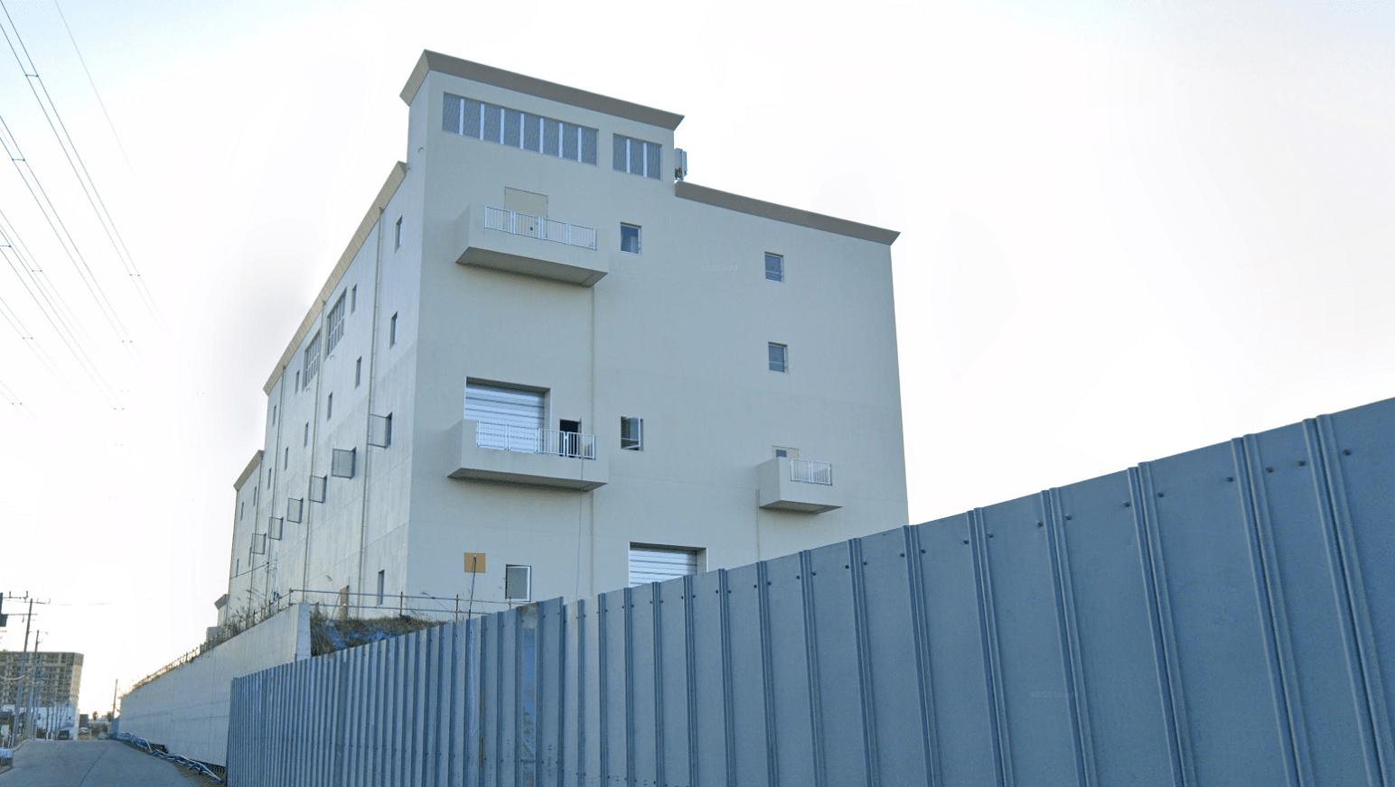 防水工事の実績(江戸川区)施工中