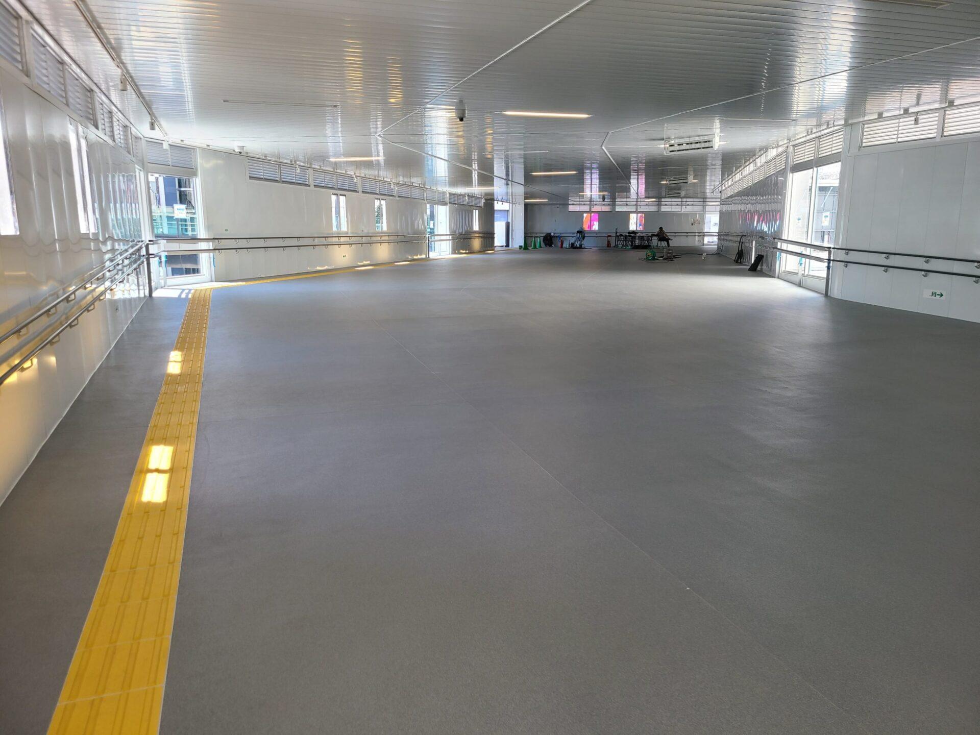 防水工事の実績(渋谷駅)施工中